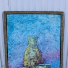 Arte: OLEO FIRMADO ORINGINAL SOBRE TABLE. Lote 104111455