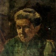 Arte: RETRATO DE ANCIANA. PINTURA. ÓLEO SOBRE LIENZO. ESCUELA CATALANA. ESPAÑA. SIGLO XIX. Lote 104185635