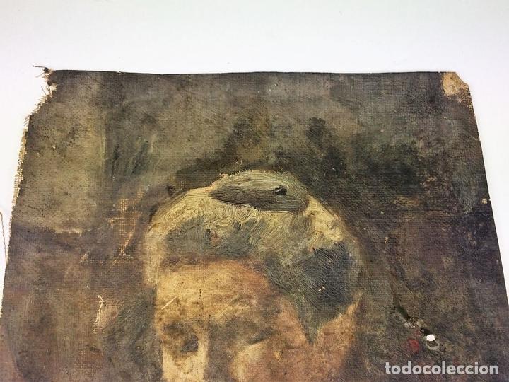 Arte: RETRATO DE ANCIANA. PINTURA. ÓLEO SOBRE LIENZO. ESCUELA CATALANA. ESPAÑA. SIGLO XIX - Foto 4 - 104185635