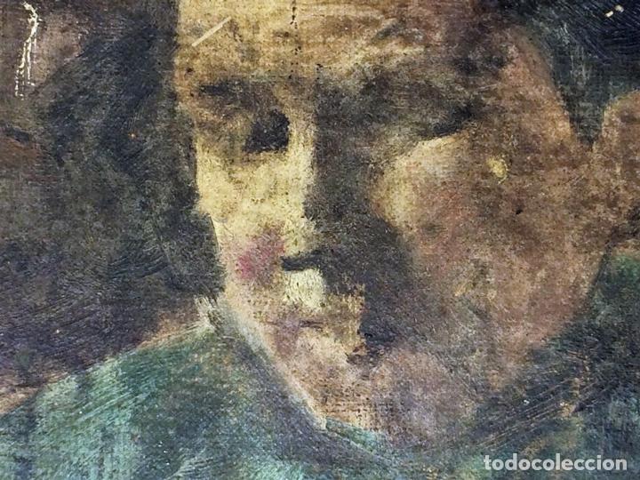 Arte: RETRATO DE ANCIANA. PINTURA. ÓLEO SOBRE LIENZO. ESCUELA CATALANA. ESPAÑA. SIGLO XIX - Foto 6 - 104185635