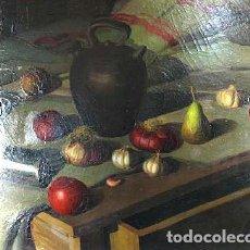 Arte: BODEGÓN DE FRUTAS. ÓLEO SOBRE TELA. RAMÓN CALSINA BARO. ESPAÑA. SIGLO XX. Lote 103991375