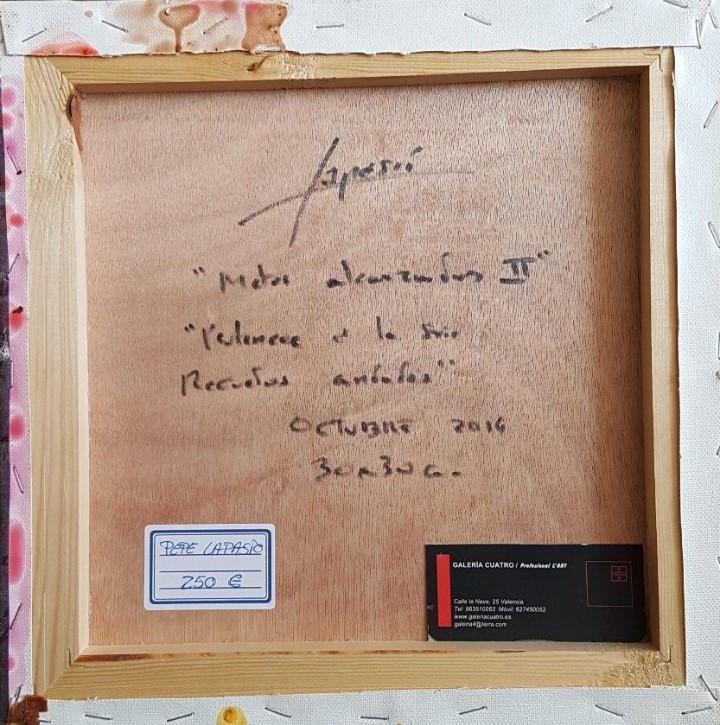 Arte: JOSÉ LAPASIÓ EXCELENTE CUADRO ORIGINAL - METAS ALCANZADAS II - 30x30 cm. COA - Foto 2 - 104269523