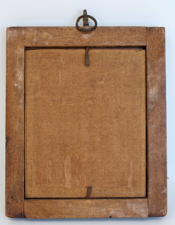 Arte: RETRATO AL OLEO DE JESUS SOBRE COBRE - 14 X 12 cm CON MARCO - S. XVII. - Foto 4 - 97358783