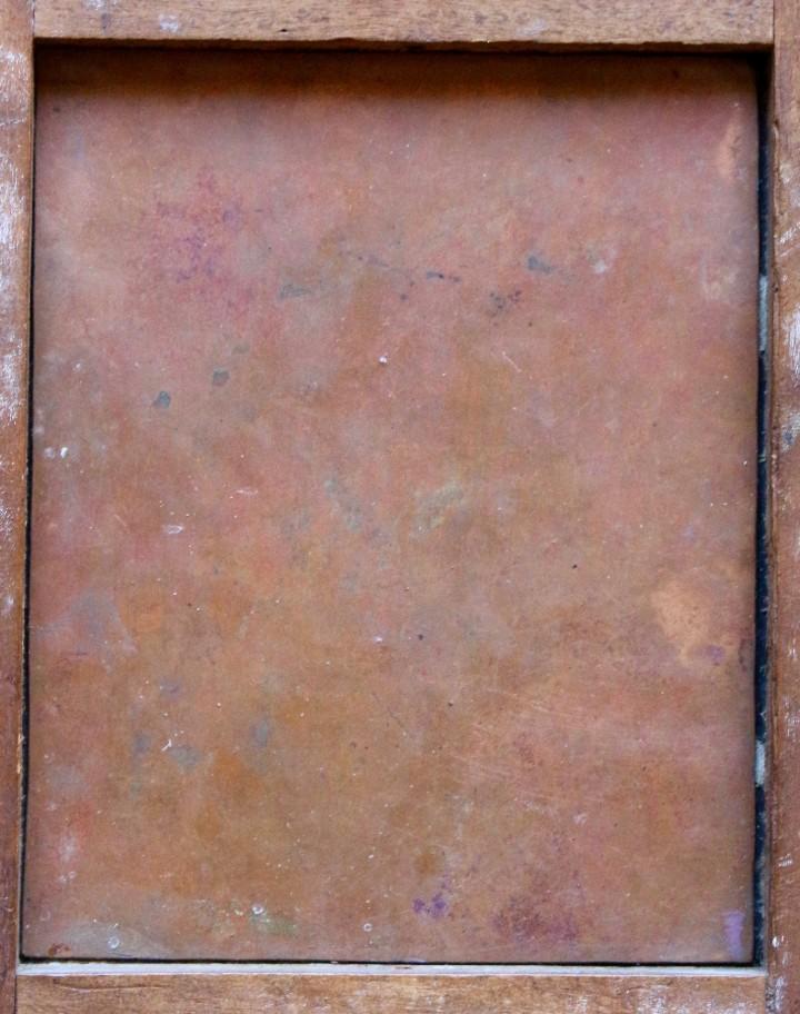 Arte: RETRATO AL OLEO DE JESUS SOBRE COBRE - 14 X 12 cm CON MARCO - S. XVII. - Foto 5 - 97358783