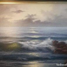 Arte: PRECIOSA MARINA, GRAN INVERSION, MARCO LABRADO EN MADERA NOBLE.. Lote 104343475