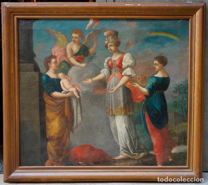 RAMON BAYEU (ZARAGOZA 1746-ARANJUEZ 1793) FIESTA DE LA PRIMAVERA, PINTURA AL ÓLEO. 93X84CM (Arte - Pintura - Pintura al Óleo Antigua siglo XVIII)