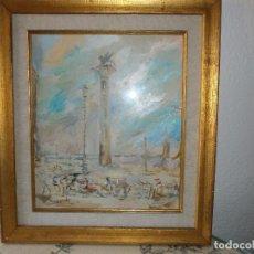 Arte: PLAZA DE SAN MARCOS, VENECIA - MANUEL MALDONADO RODRÍGUEZ (GRANADA, 1915-1984) - OLEO SOBRE TABLA.. Lote 104396687