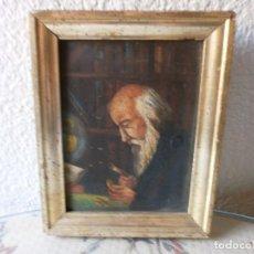 Arte: EL NUMISMÁTICO - SIN FIRMAR - OLEO SOBRE PLANCHA METÁLICA S. XX.. Lote 104422783