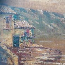 Arte: CUADRO ÓLEO ANTIGUO FIRMADO. Lote 104460923
