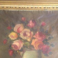 Arte: GRAN OLEO SOBRE LIENZO FLORERO.AÑO 1895.. Lote 104513879