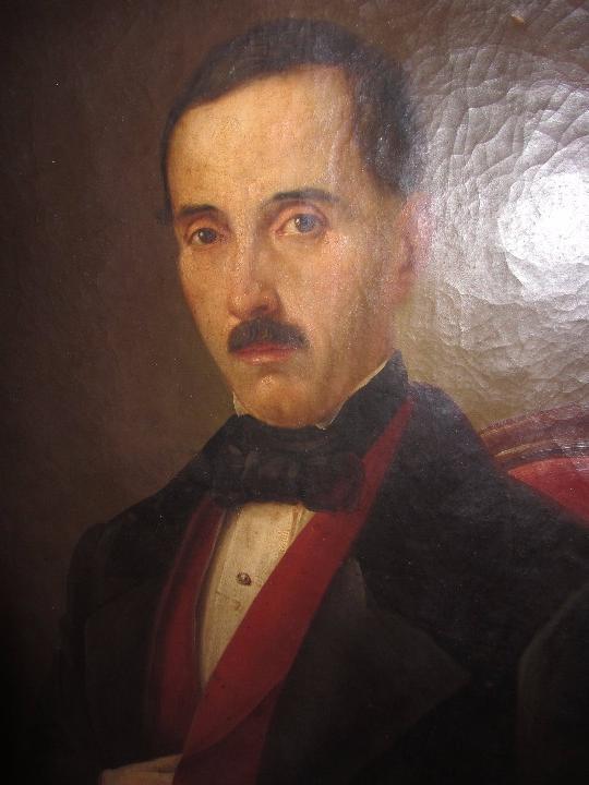 Arte: Lienzo Retrato Caballero - Escudo Heráldico Campaner Pollensa - Mallorca - Escuela Mallorquina - - Foto 8 - 104516775