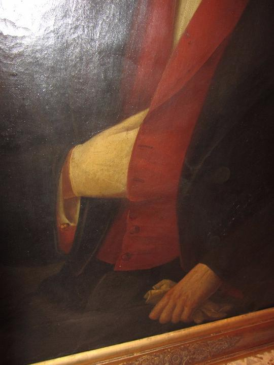 Arte: Lienzo Retrato Caballero - Escudo Heráldico Campaner Pollensa - Mallorca - Escuela Mallorquina - - Foto 10 - 104516775
