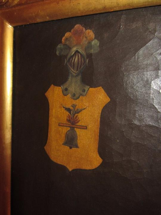 Arte: Lienzo Retrato Caballero - Escudo Heráldico Campaner Pollensa - Mallorca - Escuela Mallorquina - - Foto 14 - 104516775