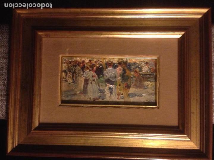 Arte: Roig Soler, Joan, pintura al óleo sobre tabla, procede de La Pinacoteca - Foto 3 - 103385471