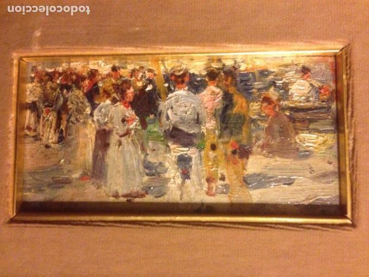 Arte: Roig Soler, Joan, pintura al óleo sobre tabla, procede de La Pinacoteca - Foto 2 - 103385471