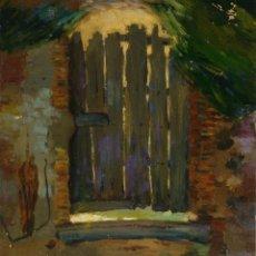 Arte: FRANCESC PLANAS DORIA (1879-1955) ÓLEO SOBRE TÁBLEX PUERTA FIRMADO. Lote 104634743