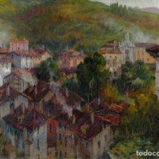 Arte: FRANCESC PLANAS DORIA (1879-1955) ÓLEO SOBRE TÁBLEX VISTA MOTRICO FIRMADP. Lote 104634763