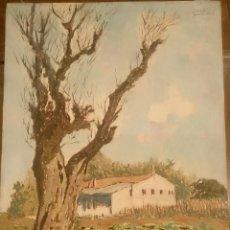 Arte: GARCIA FERRANDO. ÁRBOL Y CASA. Lote 104717639
