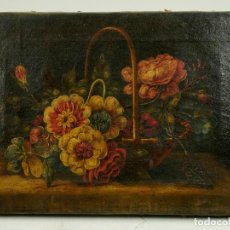 Arte - BODEGÓN DE FLORES, ÓLEO SOBRE LIENZO s.XVIII-XIX. 23X31 CM. - 104769099