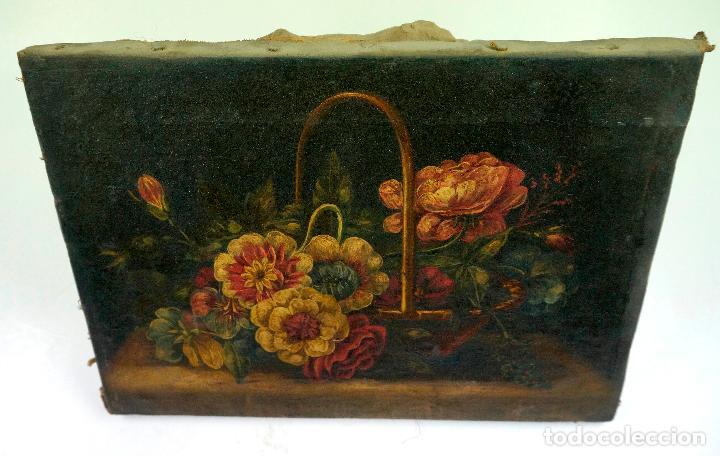 Arte: BODEGÓN DE FLORES, ÓLEO SOBRE LIENZO s.XVIII-XIX. 23X31 CM. - Foto 2 - 104769099