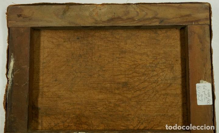 Arte: BODEGÓN DE FLORES, ÓLEO SOBRE LIENZO s.XVIII-XIX. 23X31 CM. - Foto 3 - 104769099
