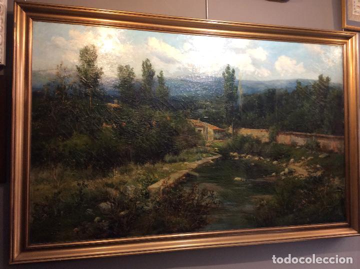 Arte: MAGNIFICO OLEO S/TELA DE JOSE LUPIAÑEZ Y CARRASCO. CERCEDILLA. - Foto 2 - 104773759