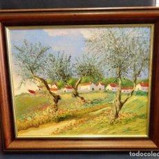 Arte: PINTURA AL OLEO DE MANUEL VALLE ROMERO, EL PINTOR DE LAS HACIENDAS, PRECIOSA, LEER MEDIDAS. Lote 104775523
