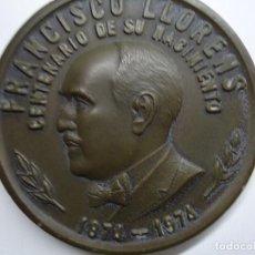 Arte: MUY RARA MEDALLA FRANCISCO LLORENS CENTENARIO DE SU NACIMIENTO 1975. Lote 104803467