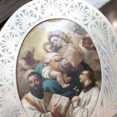 Arte: COBRE ANTIGUO, RELIGIOSO, ÓLEO SOBRE COBRE. Lote 104812799