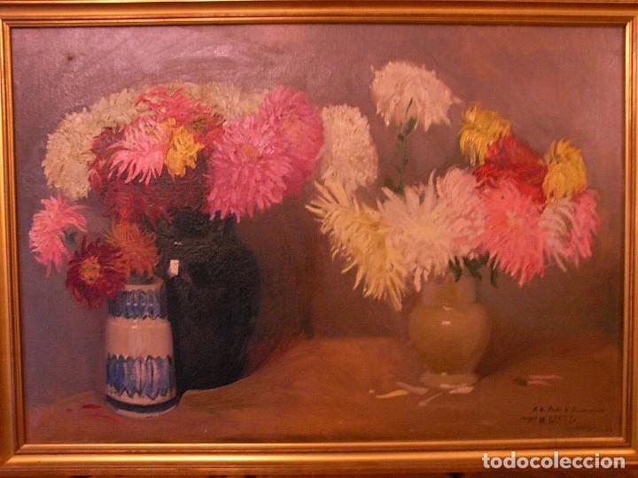 Arte: M.BENET, FLORES Y CERAMICA, 1917, CON DEDICATORIA - Foto 7 - 104822343