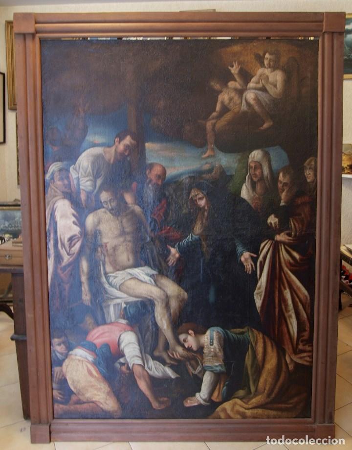 LIENZO AL ÓLEO DEL SIGLO XVI DE ESTILO MANIERISTA. TAMAÑO 185 CM X 135 CM (Arte - Pintura - Pintura al Óleo Antigua siglo XVI)