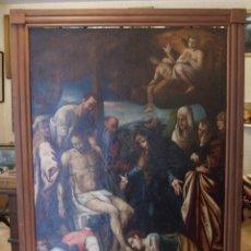 Arte: LIENZO AL ÓLEO DEL SIGLO XVI DE ESTILO MANIERISTA. TAMAÑO 185 CM X 135 CM. Lote 104887743
