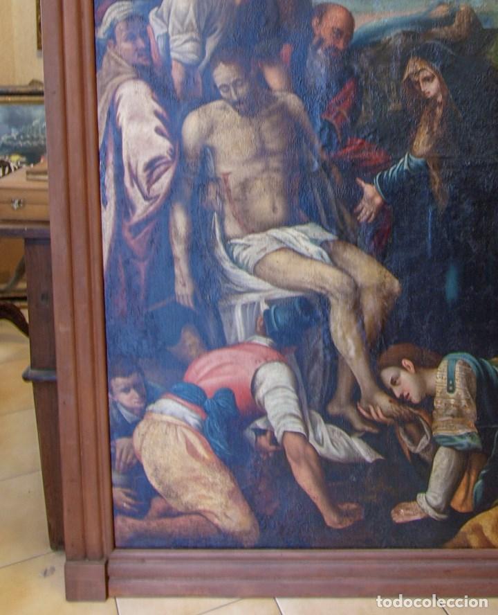 Arte: Lienzo al óleo del siglo XVI de estilo Manierista. Tamaño 185 cm X 135 cm - Foto 2 - 104887743