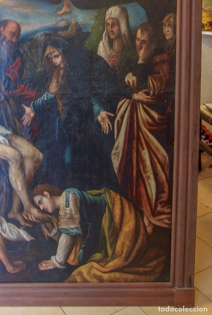Arte: Lienzo al óleo del siglo XVI de estilo Manierista. Tamaño 185 cm X 135 cm - Foto 3 - 104887743