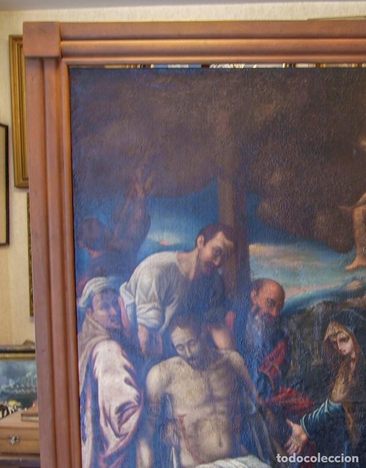 Arte: Lienzo al óleo del siglo XVI de estilo Manierista. Tamaño 185 cm X 135 cm - Foto 4 - 104887743