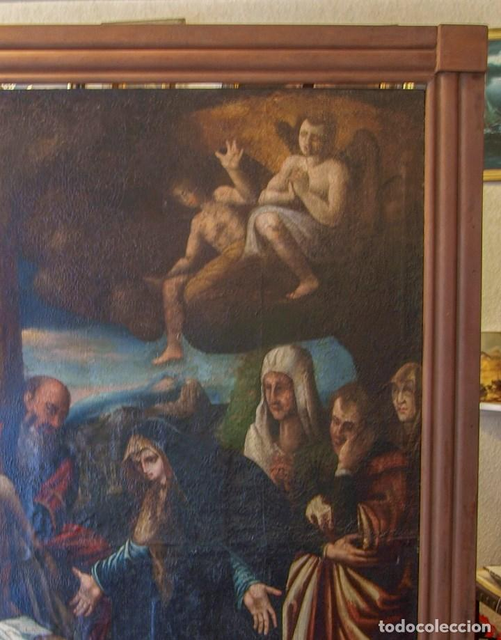 Arte: Lienzo al óleo del siglo XVI de estilo Manierista. Tamaño 185 cm X 135 cm - Foto 5 - 104887743