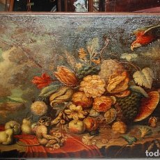 Arte: MUY BONITO BODEGÓN PINTURA AL ÓLEO SOBRE LIENZO SIGLO XVIII. Lote 115087258