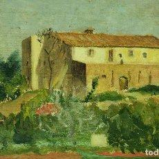 Arte - CASA DE LABRANZA. PINTURA. ÓLEO SOBRE MADERA. ESCUELA CATALANA. ESPAÑA. SIGLO XIX - 104960483