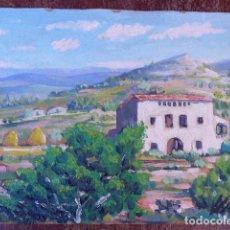 Arte: ÓLEO SOBRE TABLEX.FIRMADO VILÀ.ESCUELA CATALANA. Lote 104990839
