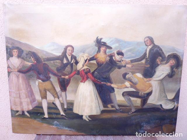 ÓLEO SOBRE TELA.COPIA DE GOYA.BUENA FACTURA.SIGLO XIX (Arte - Pintura - Pintura al Óleo Contemporánea )