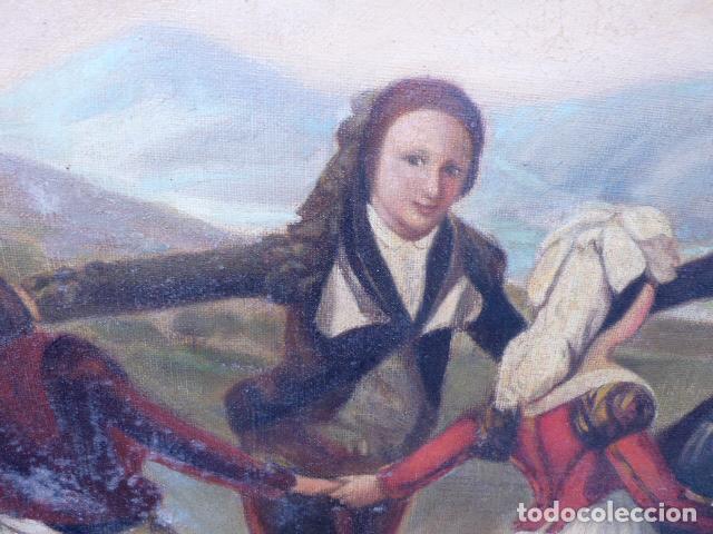 Arte: óleo sobre tela.copia de Goya.buena factura.siglo XIX - Foto 2 - 104992347