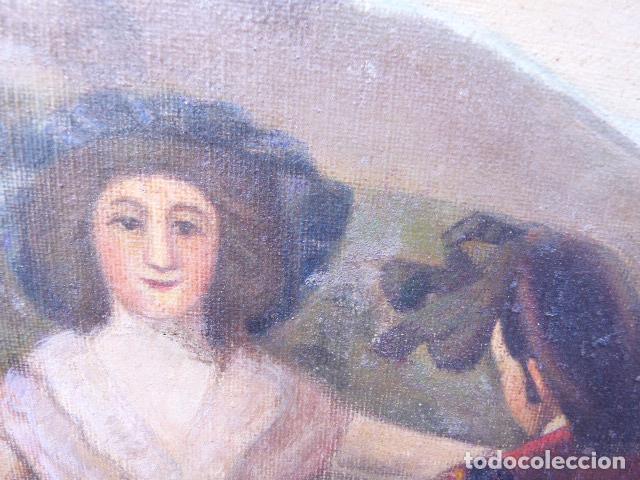 Arte: óleo sobre tela.copia de Goya.buena factura.siglo XIX - Foto 3 - 104992347