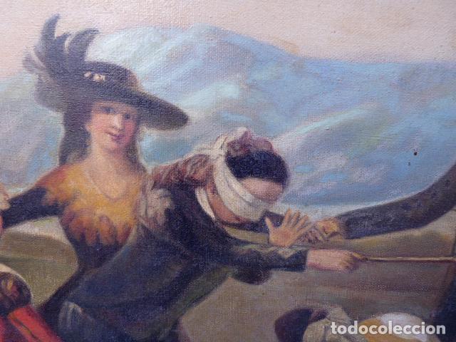 Arte: óleo sobre tela.copia de Goya.buena factura.siglo XIX - Foto 4 - 104992347