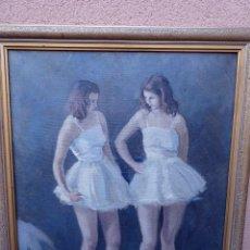 Arte: ÓLEO SOBRE TELA.VICENS FERRER 48.BALLET.. Lote 104992611