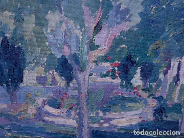 Arte: óleo sobre cartón.anónimo.escuela catalana. - Foto 2 - 104992863