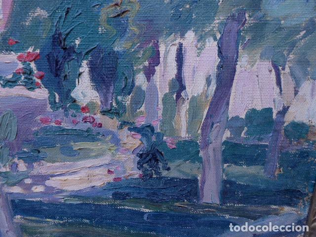 Arte: óleo sobre cartón.anónimo.escuela catalana. - Foto 3 - 104992863