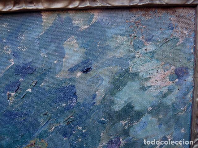Arte: óleo sobre cartón.anónimo.escuela catalana. - Foto 4 - 104992863