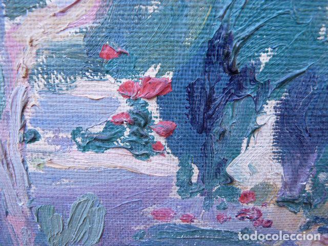 Arte: óleo sobre cartón.anónimo.escuela catalana. - Foto 5 - 104992863