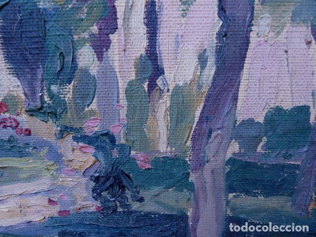 Arte: óleo sobre cartón.anónimo.escuela catalana. - Foto 6 - 104992863