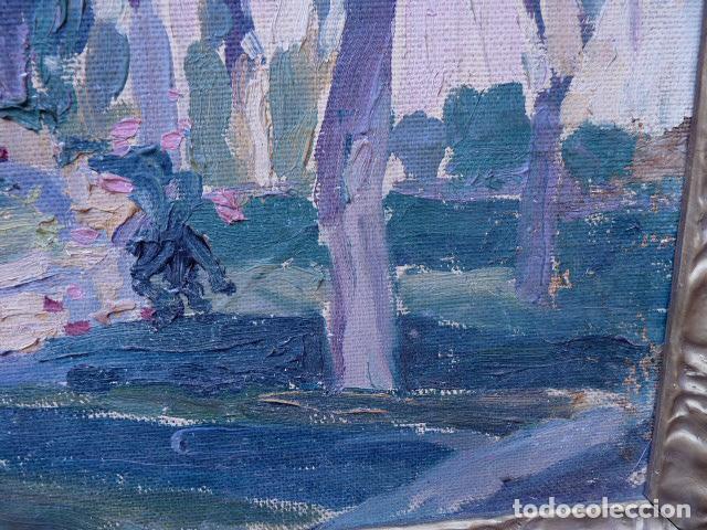 Arte: óleo sobre cartón.anónimo.escuela catalana. - Foto 8 - 104992863